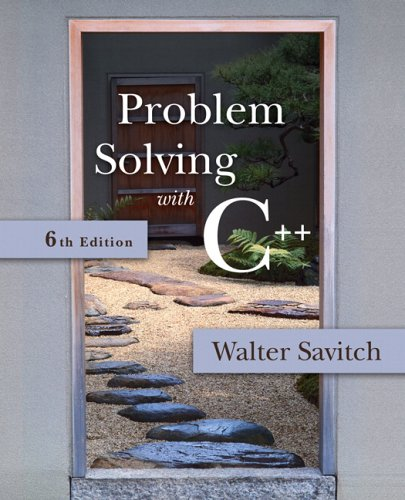 Problem Solving with C++  6th 2007 (Revised) edition cover