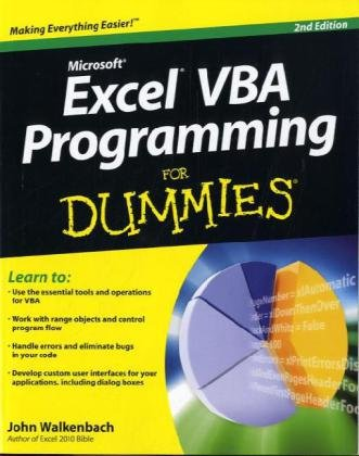 Excel VBA Programming for Dummies  2nd 2010 edition cover