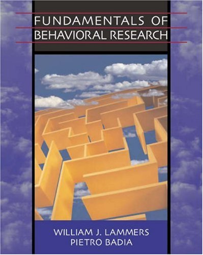 Fundamentals of Behavioral Research   2005 9780534630690 Front Cover