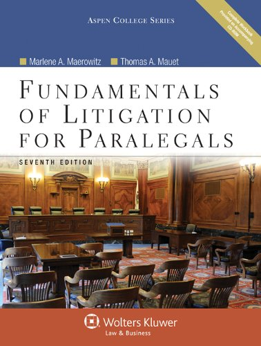 Fundamentals of Litigation for Paralegals 7e W/ Cd  7th 2012 (Revised) edition cover