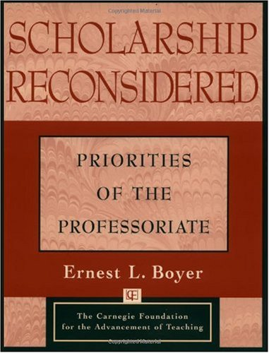 Scholarship Reconsidered Priorities of the Professoriate  1990 edition cover