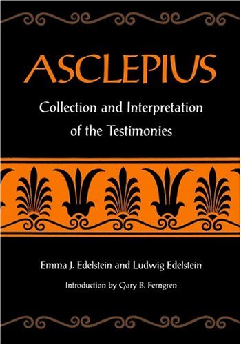 Asclepius Collection and Interpretation of the Testimonies  1998 edition cover