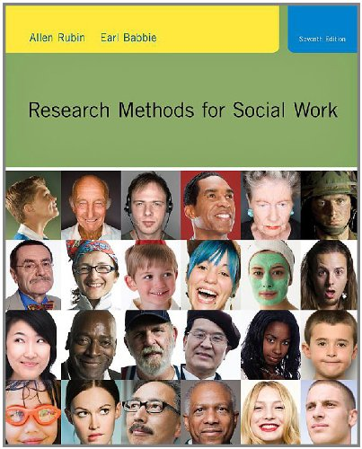 Research Methods for Social Work  7th 2011 (Student Manual, Study Guide, etc.) edition cover