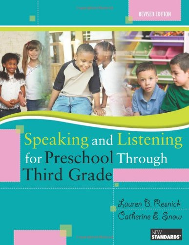 Speaking and Listening for Preschool Through Third Grade   2009 edition cover