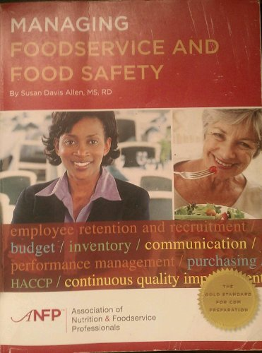 Managing Foodservice and Food Safety N/A 9780975347690 Front Cover