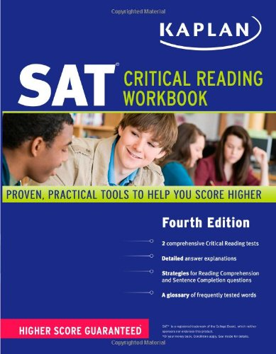 Kaplan SAT Critical Reading Workbook  4th (Workbook) edition cover