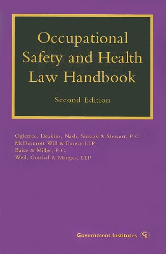 Occupational Safety and Health Law Handbook  2nd edition cover