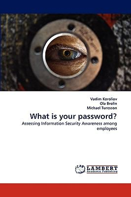 What Is Your Password? N/A 9783838386690 Front Cover