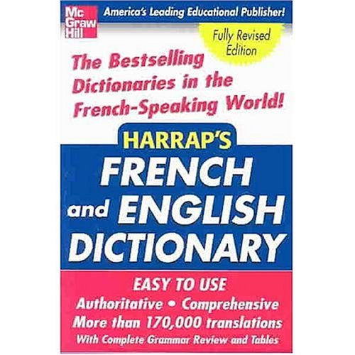 Harrap's French and English Dictionary   2004 edition cover