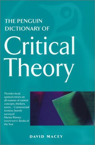 Penguin Dictionary of Critical Theory   2001 edition cover