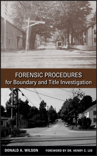 Forensic Procedures for Boundary and Title Investigation   2008 edition cover