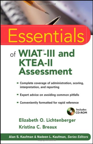 Essentials of WIAT-III and KTEA-II Assessment   2010 edition cover
