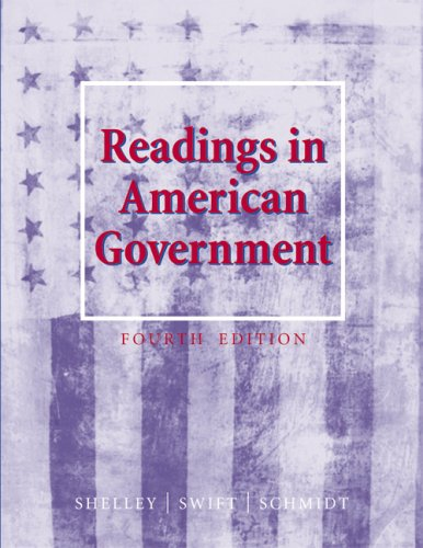Readings in American Government  4th 2003 (Revised) 9780534592691 Front Cover