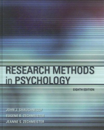 Research Methods in Psychology  8th 2009 edition cover