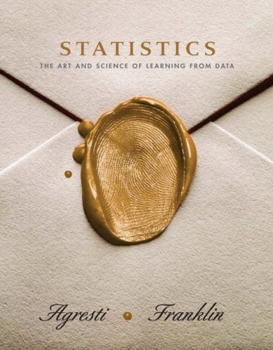 Statistics The Art and Science of Learning from Data  2007 edition cover