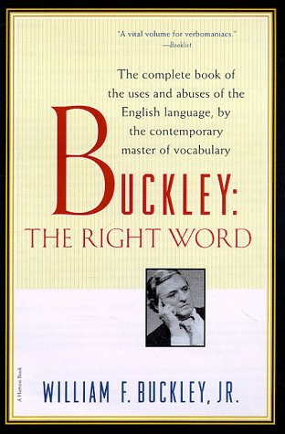 Buckley The Right Word  1996 edition cover