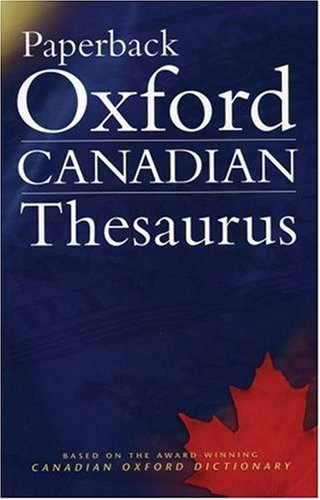 Paperback Oxford Canadian Thesaurus   2004 edition cover
