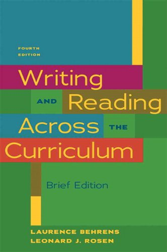 Writing and Reading Across the Curriculum  4th 2011 edition cover