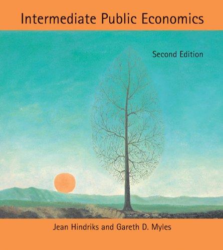 Intermediate Public Economics  2nd 2013 edition cover