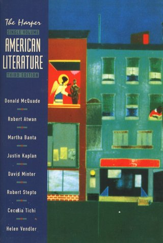 Harper American Literature  3rd 1999 (Student Manual, Study Guide, etc.) edition cover
