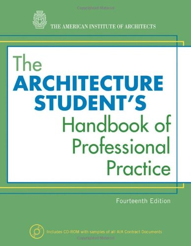 Architecture Student's Handbook of Professional Practice  14th 2009 (Student Manual, Study Guide, etc.) edition cover