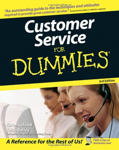 Customer Service for Dummies  3rd 2006 (Revised) edition cover