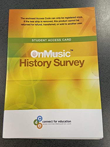 OnMusic History Survey  N/A 9780977927692 Front Cover