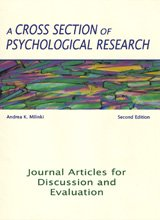 Cross Section of Psychological Research-2nd Ed Journal Articles for Discussion and Evaluation 2nd 2006 (Revised) edition cover