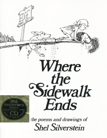 Where the Sidewalk Ends Poems and Drawings  2002 (Anniversary) edition cover