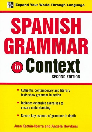 Spanish Grammar in Context  2nd 2008 (Revised) edition cover