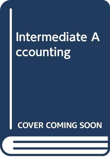 Intermediate Accounting  N/A 9780314044693 Front Cover