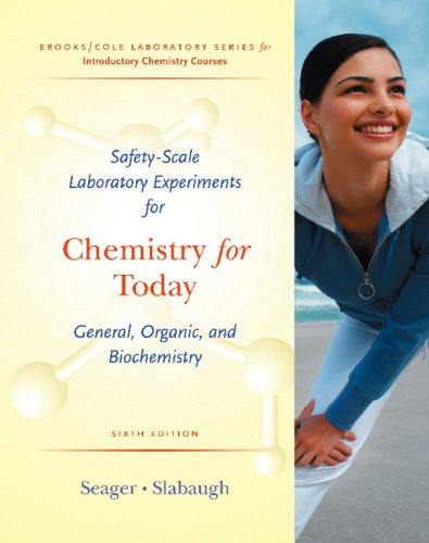 Chemistry for Today General, Organic, and Biochemistry 6th 2008 edition cover