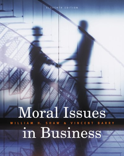 Moral Issues in Business  11th 2010 edition cover