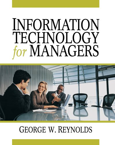 Information Technology for Managers   2010 edition cover