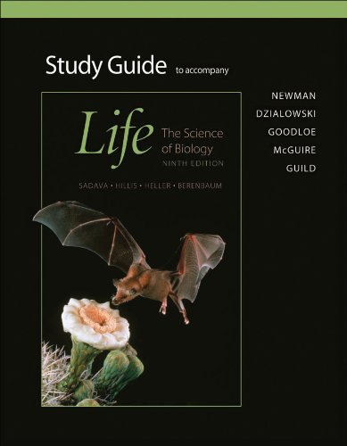 Student Study Guide for Life The Science of Biology 9th 2011 (Revised) edition cover