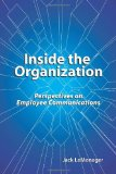 Inside the Organization Perspectives on Employee Communications N/A edition cover