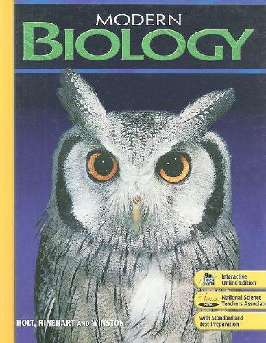 Holt Modern Biology Student Edition 2009 1st 2008 9780030367694 Front Cover