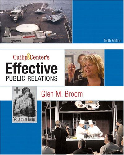 Cutlip and Center's Effective Public Relations  10th 2009 edition cover