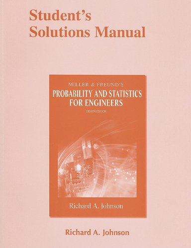 Probability and Statistics for Engineers  8th 2011 edition cover