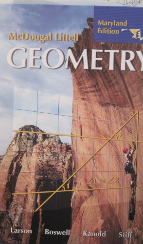 Geometry, Grades 9-12: Mcdougal Littell High School Maryland  2007 9780618923694 Front Cover
