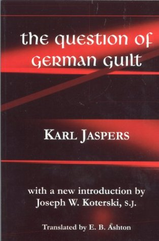 Question of German Guilt  3rd 2001 edition cover