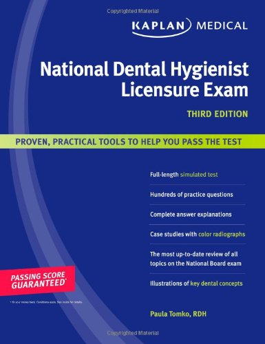 Kaplan Medical National Dental Hygienist Licensure Exam  3rd edition cover