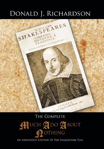 Complete Much Ado about Nothing An Annotated Edition of the Shakespeare Play  2013 9781491828694 Front Cover
