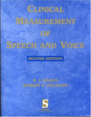 Clinical Measurement of Speech and Voice  2nd 2000 (Revised) edition cover