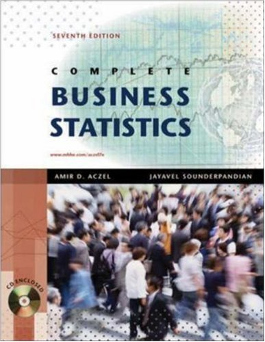 Complete Business Statistics with Student CD  7th 2009 9780077239695 Front Cover