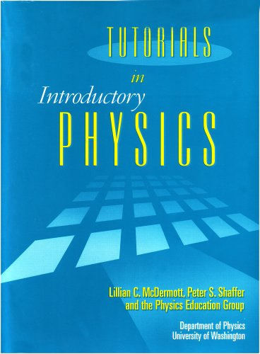 Tutorials in Introductory Physics and Homework Package   2002 edition cover