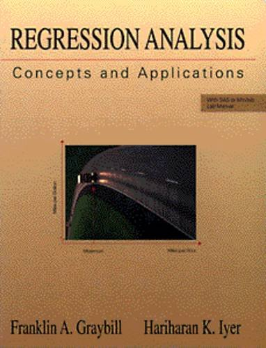 Regression Analysis Concepts and Applications 1st 9780534198695 Front Cover