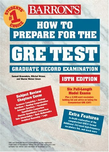 How to Prepare for the GRE Test  15th 2003 (Revised) 9780764117695 Front Cover