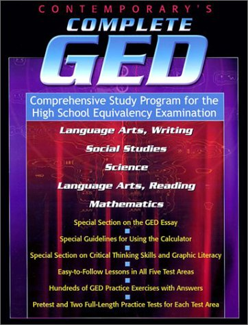 Contemporary's Complete Ged : Comprehensive Study Program for the High School Equivalency Examination 1st edition cover