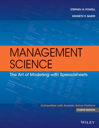 Management Science The Art of Modeling with Spreadsheets 4th 2014 9781118582695 Front Cover